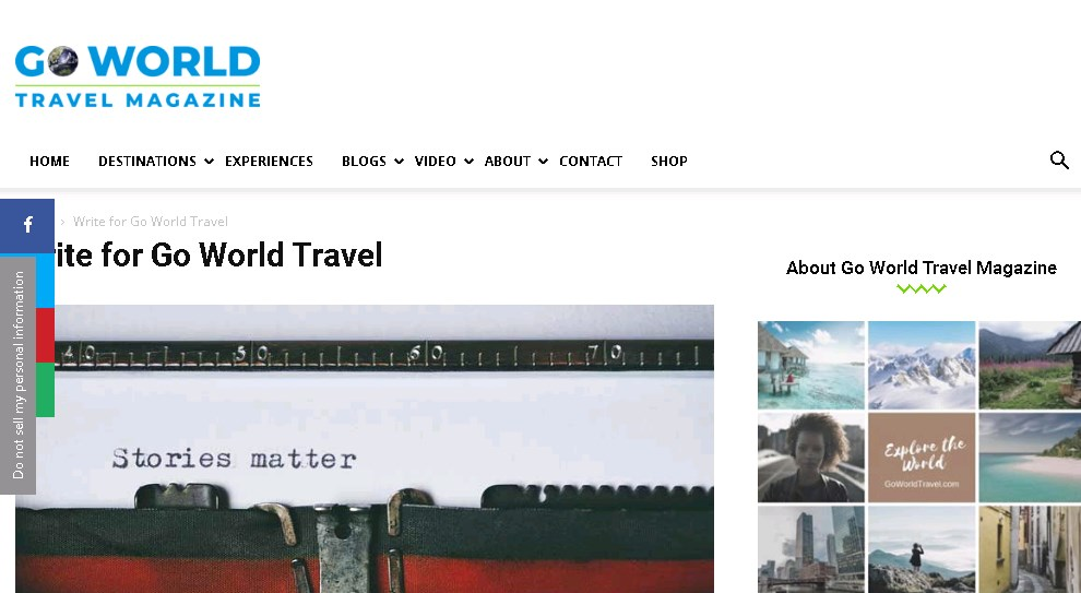 Go World Travel pay you to write about your trips and travel